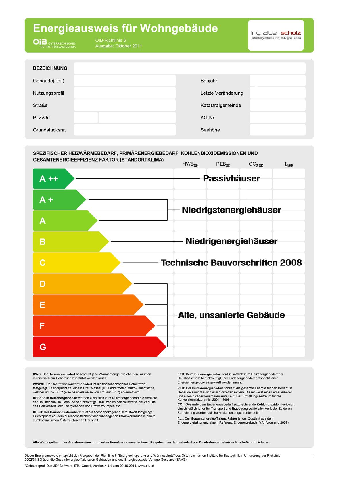 Energieausweis OIB RL 6