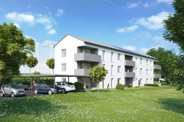 Wohnbau in Kirchbach, 2. Bauabschnitt, sperl.schrag ZT 2014