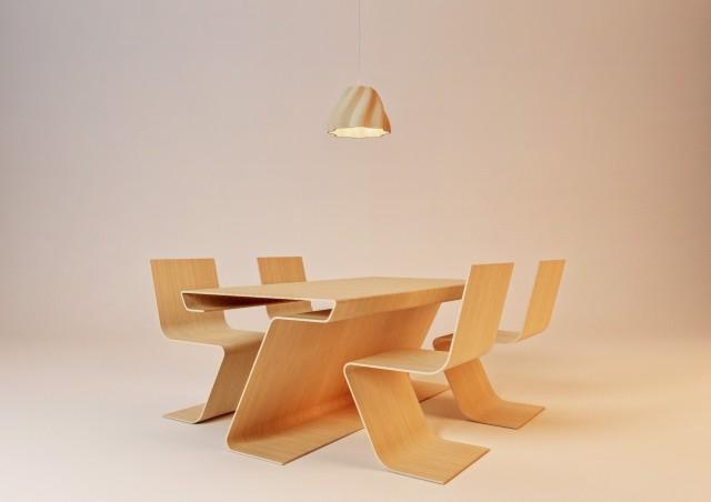 Essgruppe Holz Section Serie © Erich Bscheider, Philipp Hubmer