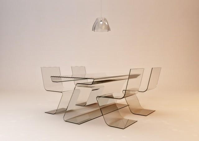 Essgruppe Glas Section Serie © Erich Bscheider, Philipp Hubmer