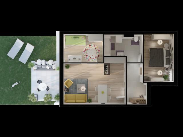 3D Visualisierung Leitring Grundriss